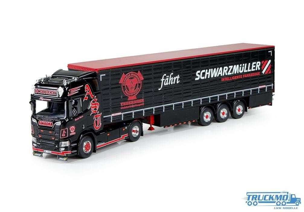 Tekno Schubert Scania NGS R-Serie Highline mit 3 Achs Planenauflieger 73884