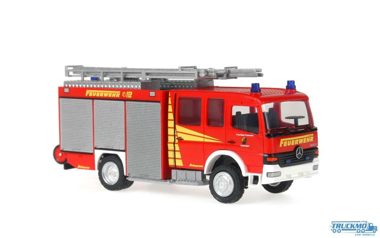 Rietze Feuerwehr Hasbergen Mercedes Benz Atego LF 16/12 Schlingmann 61181