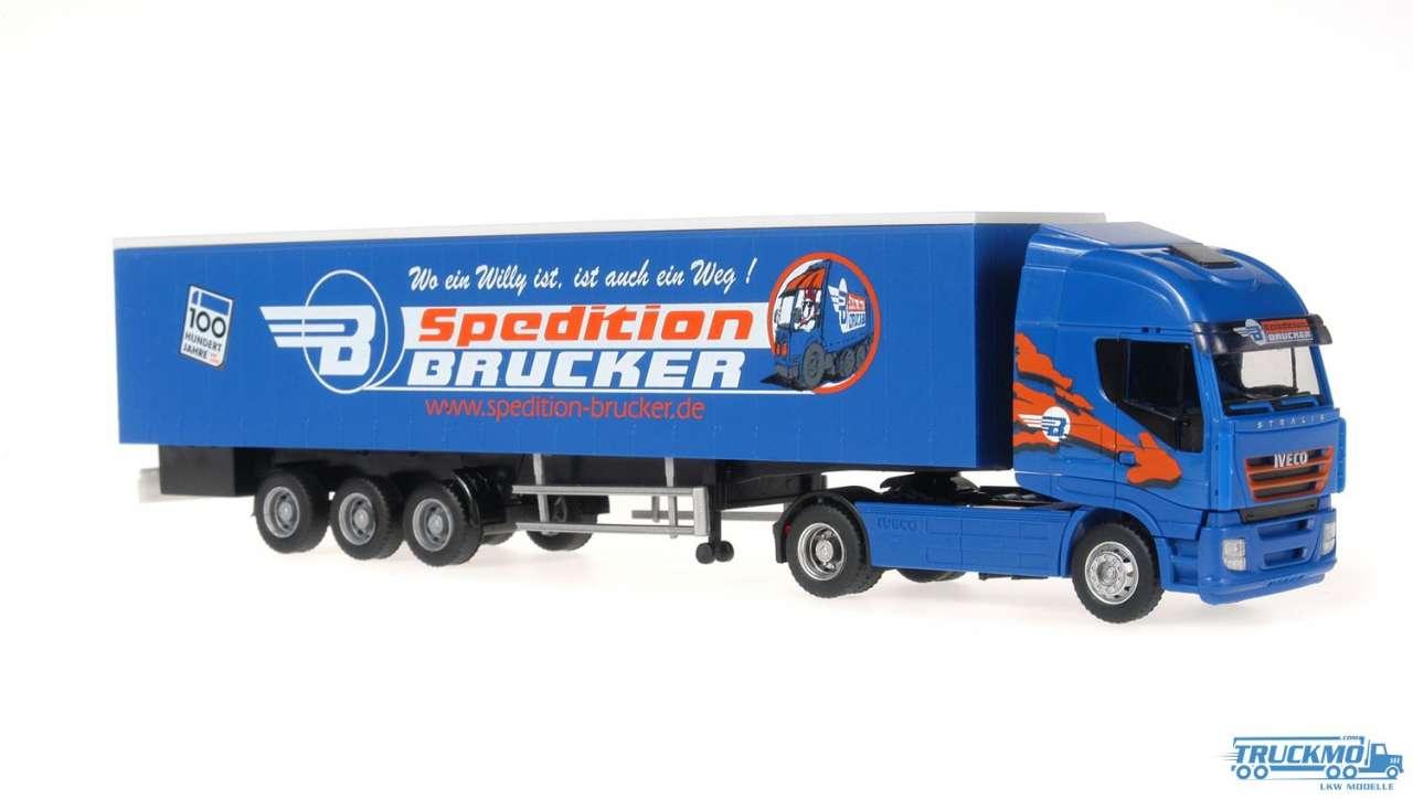 Rietze Brucker Spedition Iveco Stralis Kofferauflieger 60870