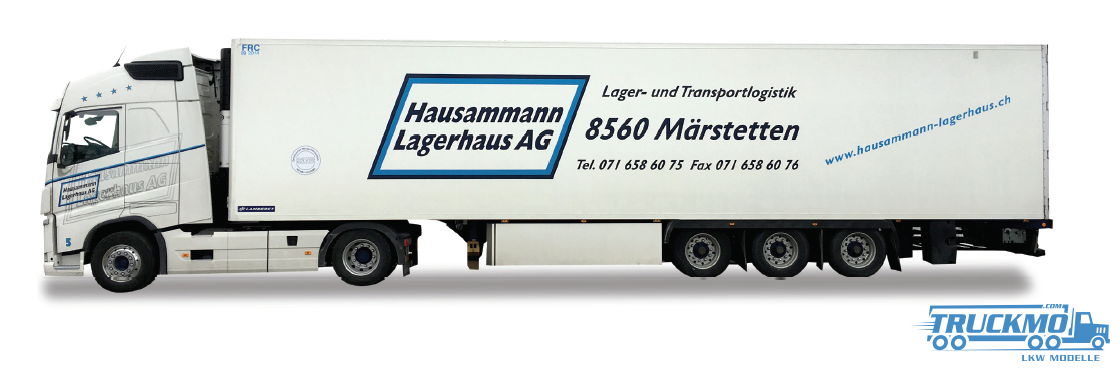 Herpa Hausammann LKW Modell Volvo FH gl Kühlkoffer Sattelzug 927925