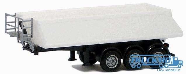 Herpa Kippauflieger Schmitz 3 Achs weiß, Chassis schwarz 670300