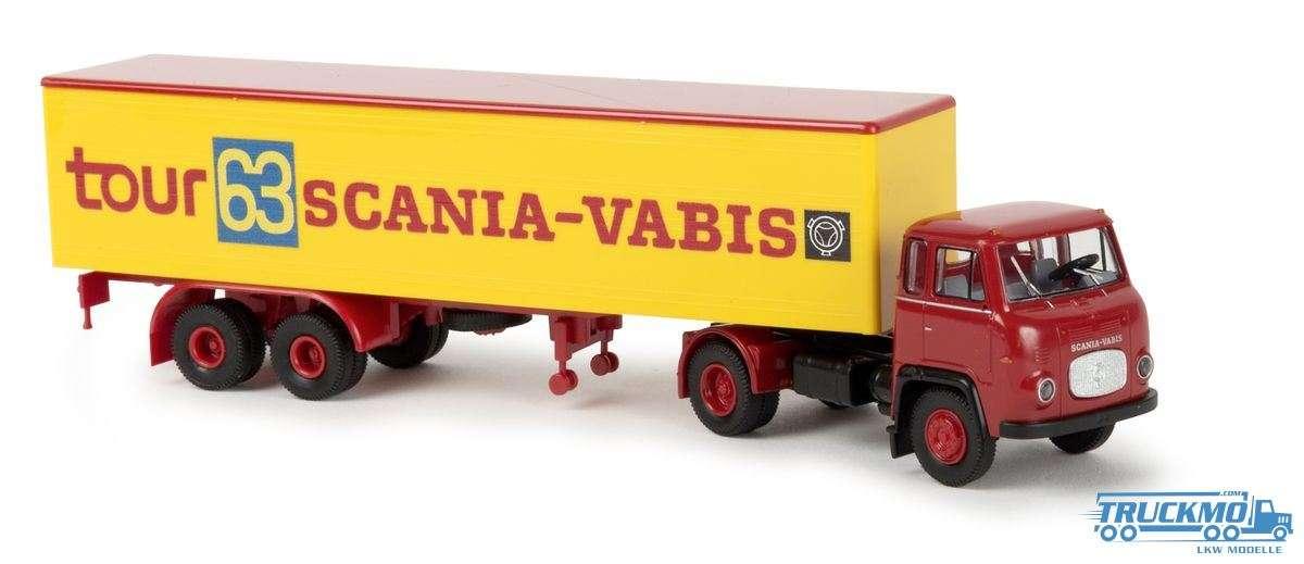 Brekina Scania Tour 63 Scania Koffer-Sattelzug 85156