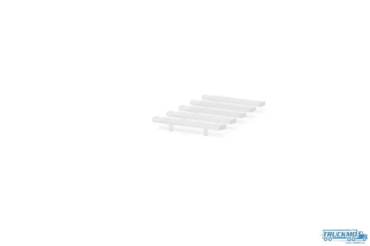 Rietze LED Balken RTW/Transporter transparent 5 Stück 70257