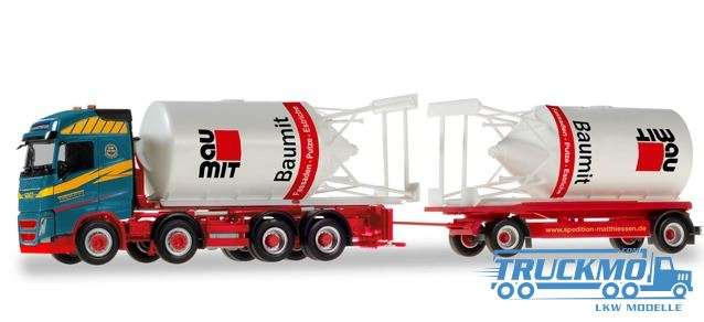 Herpa Matthiessen Logistik Volvo FH Gl. Silosteller-Hängerzug 310130