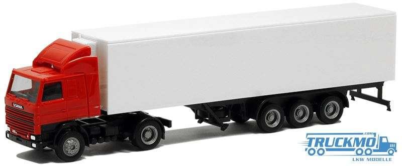 Herpa LKW Modell Scania 142 Kühlkoffer Auflieger 000391
