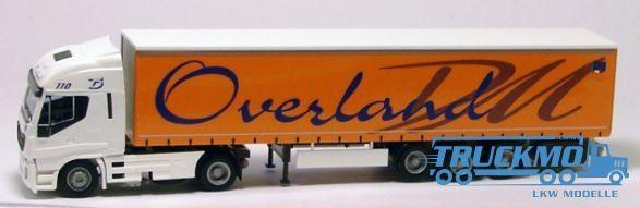 AWM Overland LKW Iveco Stralis HiWay Aerop. Gardinenplanensattelzug 75402