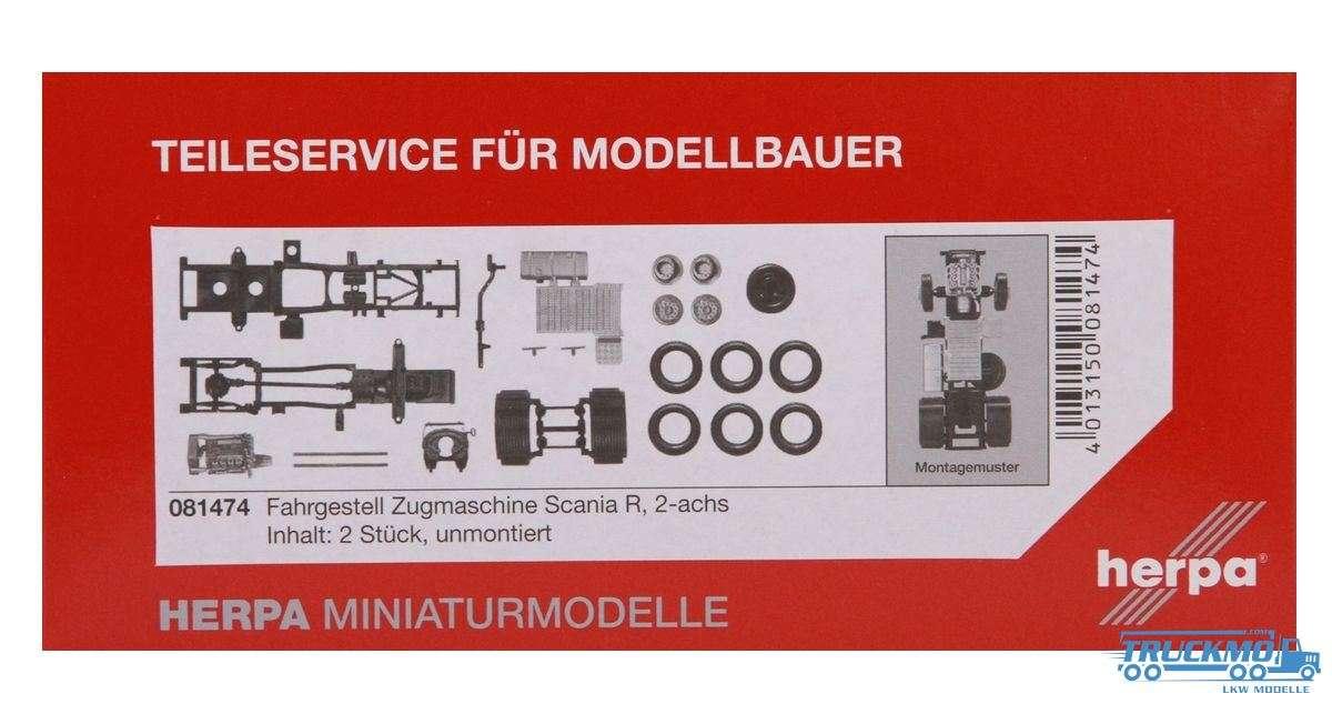 Herpa Zugmaschinen-Fahrgestell Scania Scania R 2-achs Inhalt: 2 Stück LKW-Modell