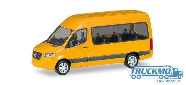 Herpa Mercedes-Benz Sprinter `18 Bus HD verkehrsgelb 093804-002