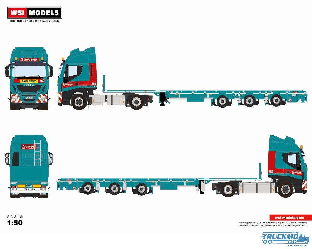 WSI Gruber Iveco Stralis Megatrailer Tiefbettl 01-2973