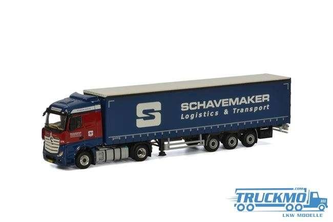 WSI Schavemaker Mercedes-Benz Actros StreamSpace Planenauflieger (3 Achs) 01-2037