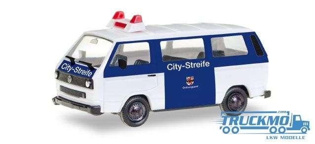 Herpa Citystreife Ordnungsamt Leverkusen VW T3 Bus 093101