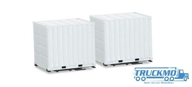 Herpa Zubehör Aufbau Koffer für Schausteller-Zugmaschine (2 Stück), inklusive Grundplatten