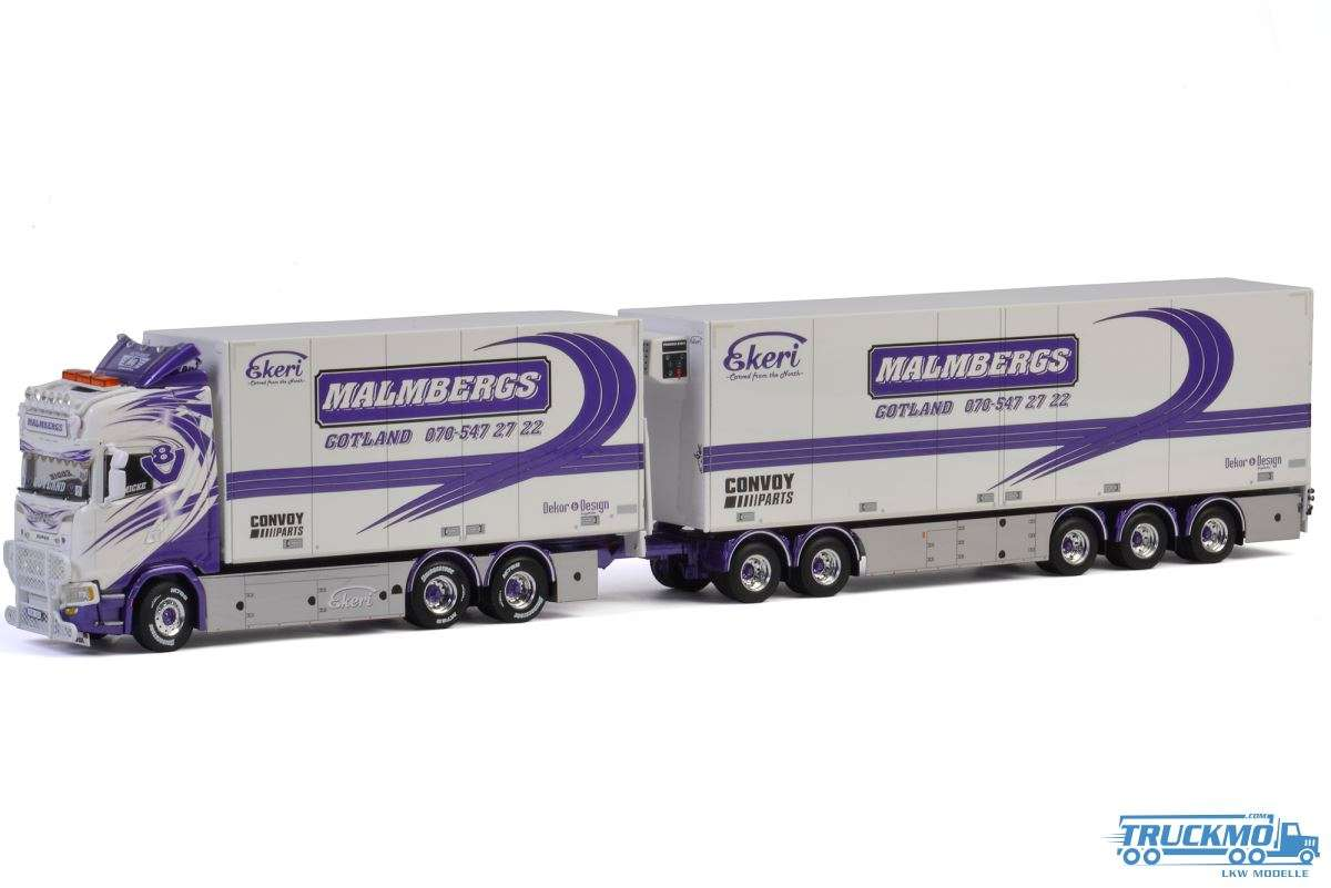 WSI Malmbergs Scania S Highline CS20H Hängerzug 01-2564