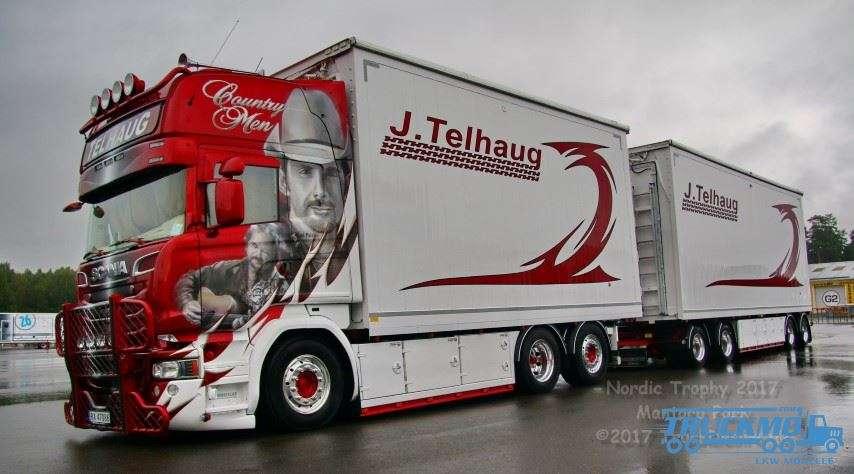 Tekno John Telhaug Scania R Serie Topline Hängerzug Showtruck 73033