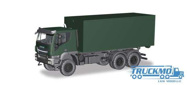 Herpa Bundeswehr Iveco Trakker 6x6 Abrollcontainer-LKW 746519