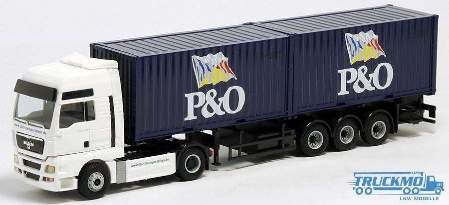 AWM P&O Star Transportation MAN TGX XXL 2 x 20 ft Containerauflieger 401806