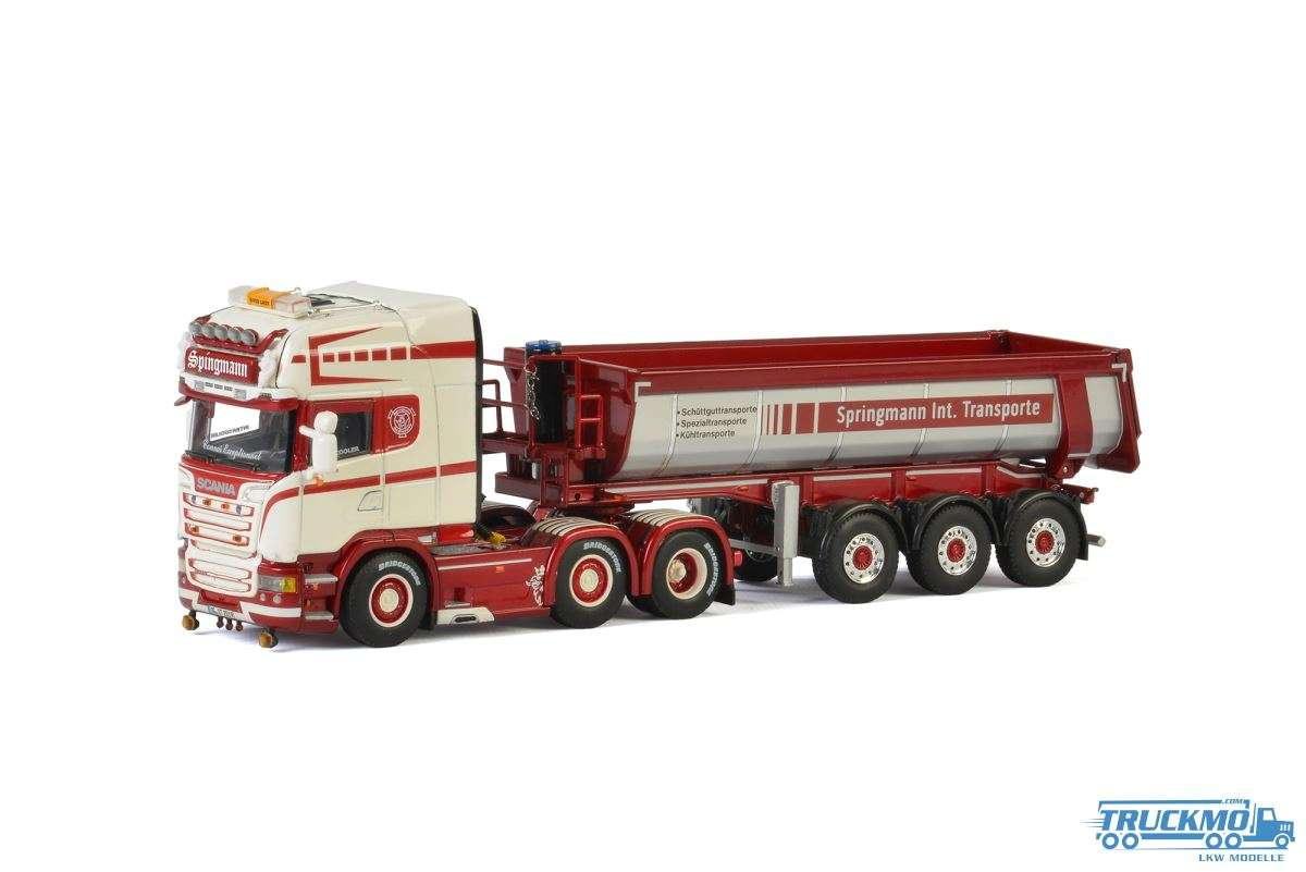 WSI Springmann Scania R Streamline Highline Halfpipe Tipper Trailer 01-2401