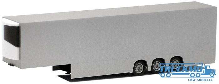 Herpa Kühlkoffer Auflieger Euro Jumbo (silber lackiert, chassis schwarz) 630590