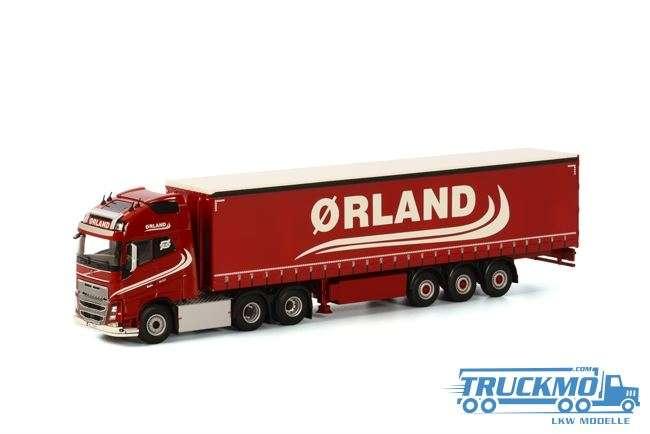 WSI Orland Transport LKW Modell Volvo FH4 Globetrotter XL Planenauflieger (3 Achs) 01-1801