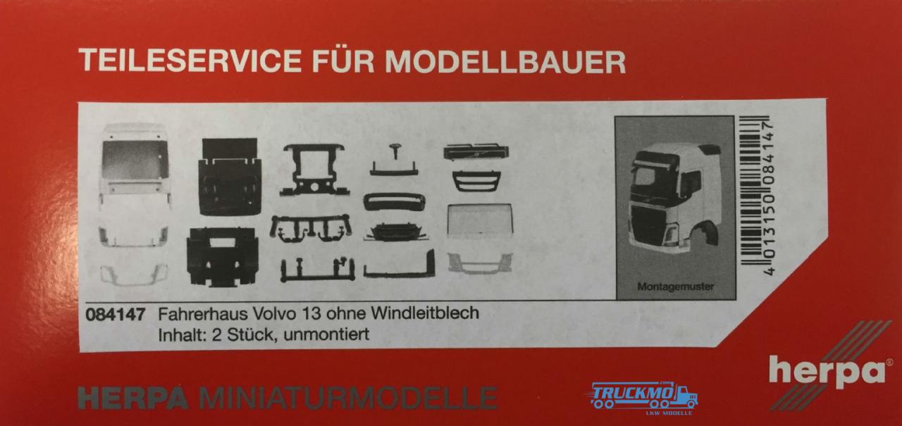Herpa Volvo FH GL Fahrerhaus ohne Windleitblech Inhalt: 2 Stück LKW Modelle