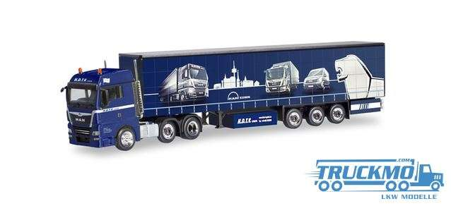 Herpa H.D.T.V MAN TGX XLX Euro 6c 6x2 Gardinenplanen-Sattelzug 311014