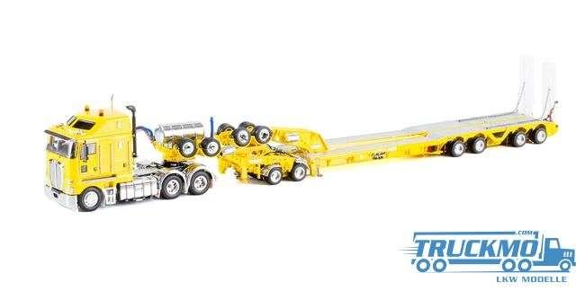 Drake LKW-Modell Kenworth K200 2x8 Dolly und 4x8 dragline bucket trailer gelb