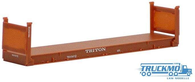 Herpa Triton 40ft Flatcontainer 491540