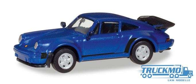 Herpa Porsche 911 Turbo blaumetallic 030601-002