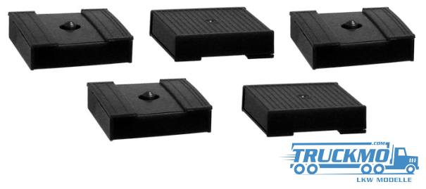 Herpa Palettenkasten (Alte Ausführung) schwarz 5 Stück 692558