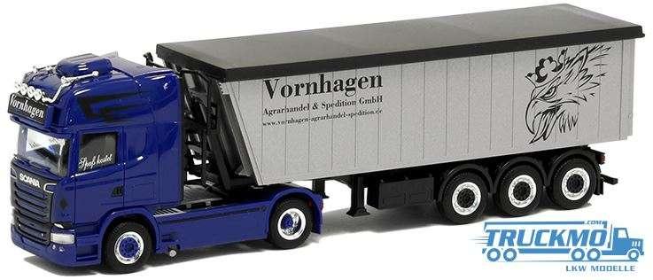 Herpa Vornhagen LKW Modell Scania R 13 TL Stöffelliner Sattelzug 930710