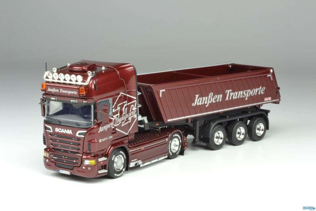 Tekno Janßen Transporte Scania R6 Topline mit 3-Achs Kipper LKW-Modelle 69480