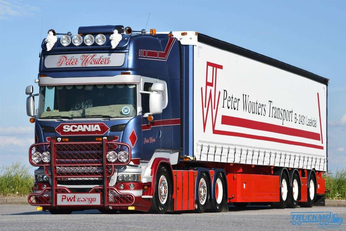 WSI PWT Peter Wouters Transport Scania R Streamline Topline Planenauflieger 01-2830