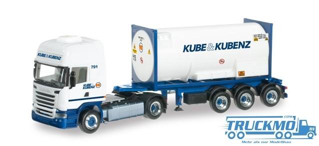 Herpa Kube & Kubenz Scania R 2013 TL Gascontainer-Sattelzug 303927