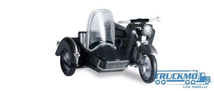 Herpa MZ 250 mit Beiwagen schwarz 053433-004