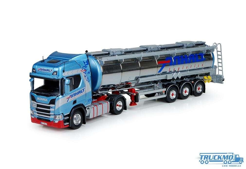 Tekno Anhalt Scania R-Serie new generation mit Tankauflieger 73034