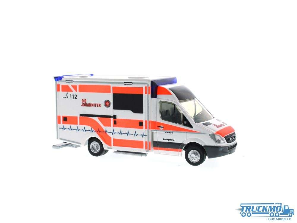 Rietze Die Johanniter Wesel Mercedes Benz WAS-Design RTW Rettungswagen 72036