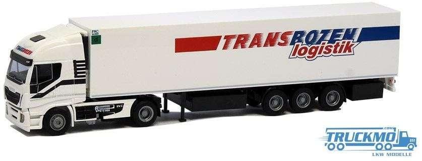 AWM Transbozen LKW Modell Iveco HiWay Kühlkoffer Sattelzug 75423