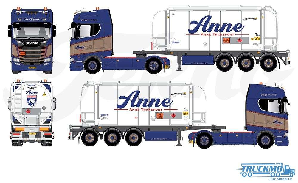 Tekno Anne Transport BV Scania Next Gen S450 Highline Tankcontainer 81391