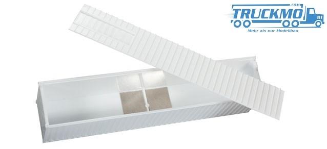 Herpa Metallplätchen zum Nachrüsten des Containers (Reachstacker), 12 Stück