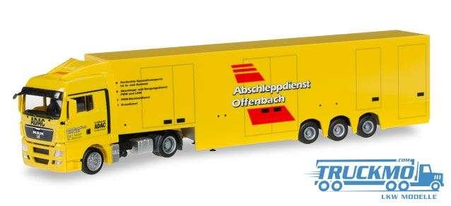 Herpa Abschleppdienst ADAC LKW Modell MAN TGX XLX Koffer-Sattelzug 923729