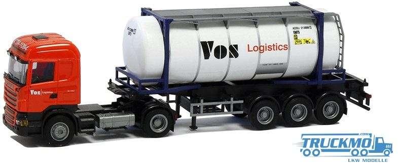 AWM Vos Logistics LKW Modell Scania 09 Hl. 26' Swapbody Sattelzug 8567.91