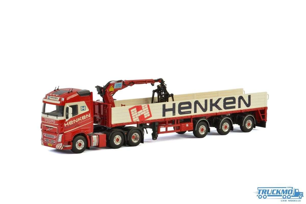 WSI Henken Volvo FH04 Globetrotter Steinauflieger mit Kran 01-2451