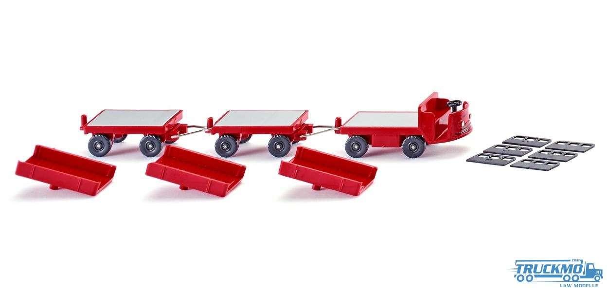 Wiking Still Elektrokarren Anhänger rot 116003
