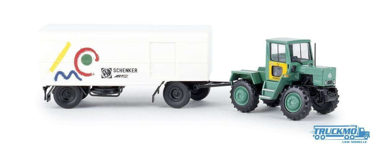 Brekina Schenker arttrans Mercedes Benz trac Anhänger 13716