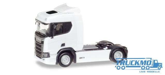 Herpa MiniKit: Minikit Scania CR 20 ND, weiß 013116