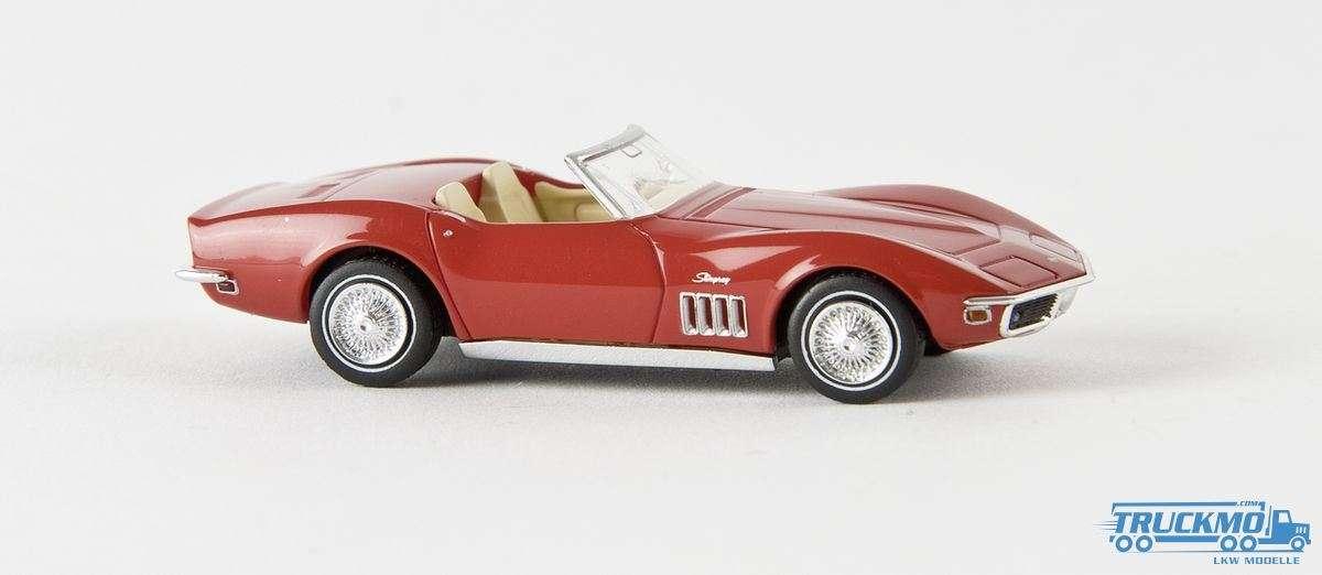 Brekina Corvette C3 Cabrio signalrot 19969