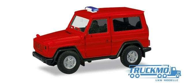 Herpa MiniKit: Mercedes-Benz G-Modell, rot (unbedruckt / Blaulichtbalken wird beigelegt) 013086