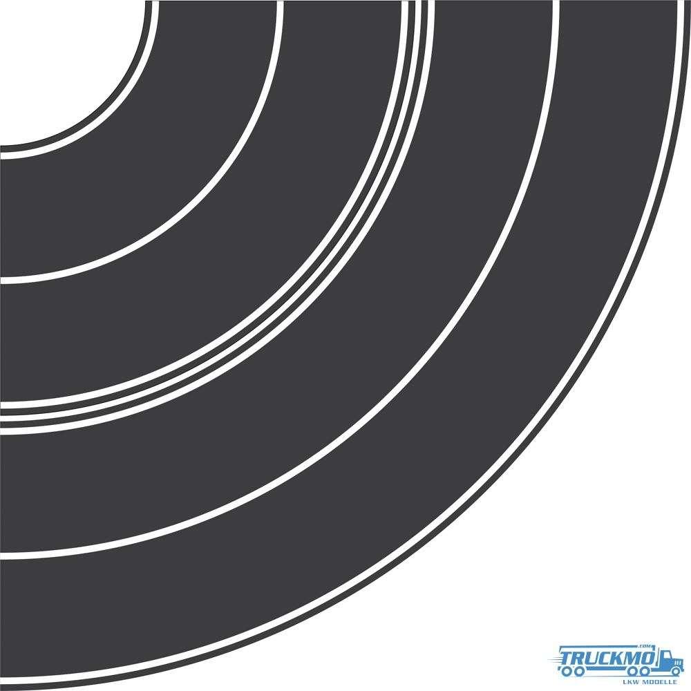 Rietze Teerbelag Kurvensatz 1 x Radius 84+165mm 70702