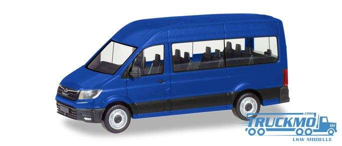 Herpa MAN TGE Bus ultramarinblau 093743