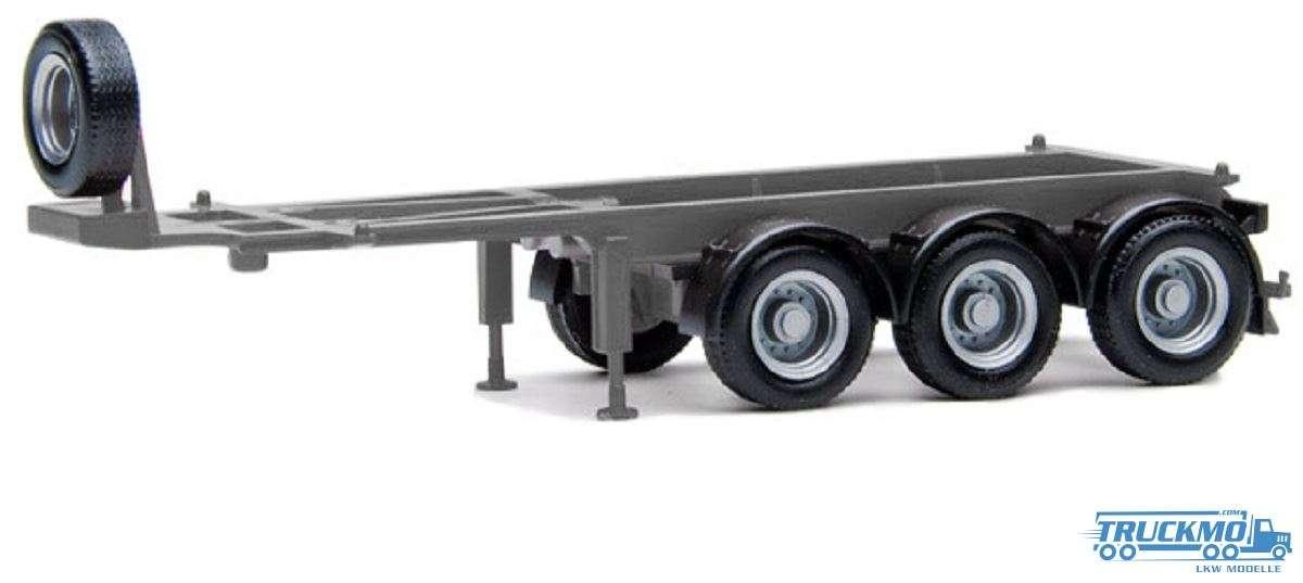Herpa Anhänger für 20ft Container 3 Achs silbergrau 480032